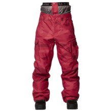 DC Shoes Donon 14 Snowboard Pants - Insulated (For Men) in Chinese Red/Pattern 2 - Closeouts