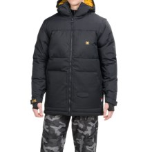 DC Shoes Downhill Snow Jacket - Waterproof, Insulated, Removable Sleeves (For Men) in Anthracite - Closeouts