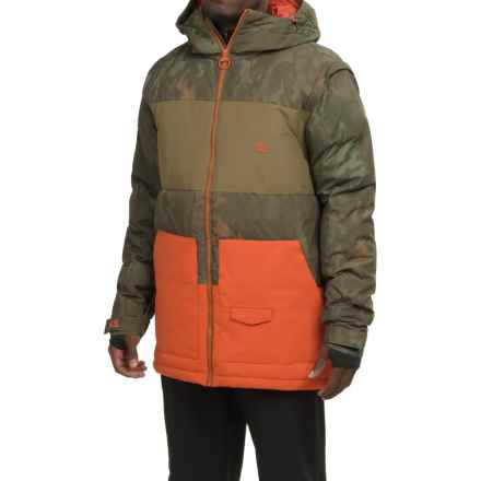 DC Shoes Downhill Snow Jacket - Waterproof, Insulated, Removable Sleeves (For Men) in Camo Lodge - Closeouts