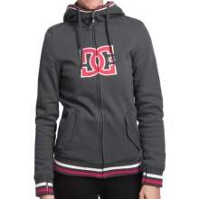DC Shoes Felice 13 Hoodie Sweatshirt - Reversible, Zip (For Women) in Shadow - Closeouts