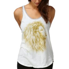 DC Shoes Fierce Animal Tank Top (For Women) in Gold Lion White - Closeouts