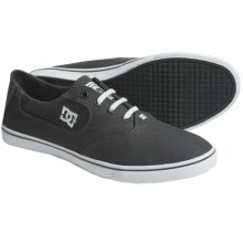 DC Shoes Flash Canvas Skate Shoes (For Women) in Dark Shadow/White - Closeouts