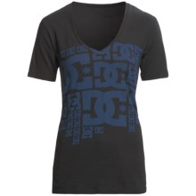 DC Shoes Free Ride T-Shirt - Cotton Jersey, Short Sleeve (For Women) in Black - Closeouts