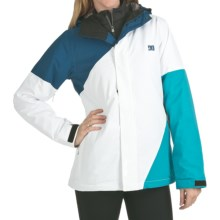 DC Shoes Fuse 13 Jacket - Insulated (For Women) in Seaport/White/Aegean - Closeouts