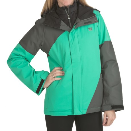 DC Shoes Fuse 13 Jacket - Insulated (For Women) in Shadow/Arcadia Green