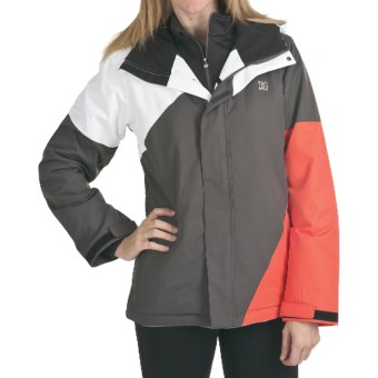 DC Shoes Fuse 13 Jacket - Insulated (For Women) in White/Shadow/Hot Coral