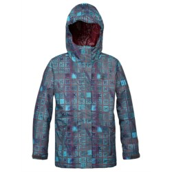 DC Shoes Fuse Snowboard Jacket - Insulated (For Girls) in Dark Gull Grey/Pattern 2