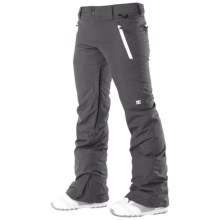DC Shoes Gallary Snowboard Pants - Waterproof, Insulated (For Women) in Shadow - Closeouts