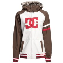DC Shoes Gamut 13 Jacket - Soft Shell (For Women) in White/Bark/Lolipop - Closeouts