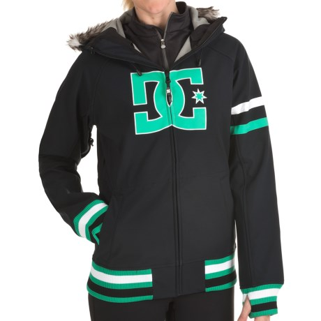 DC Shoes Gamut 13 Soft Shell Jacket (For Women) in Black/Arcadia Green