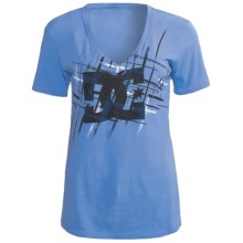 DC Shoes Glam Slam T-Shirt - Cotton Jersey, Short Sleeve (For Women) in Marine - Closeouts