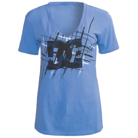 DC Shoes Glam Slam T-Shirt - Cotton Jersey, Short Sleeve (For Women) in Marine