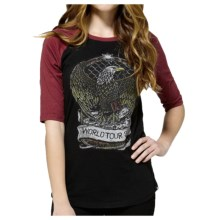 DC Shoes Graphic Raglan Sleeve T-Shirt - Cotton, 3/4 Sleeve (For Women) in Eagle Rock Black - Closeouts