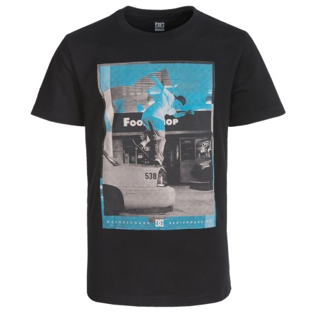 DC Shoes Graphic T-Shirt - Short Sleeve (For Big Boys) in Black