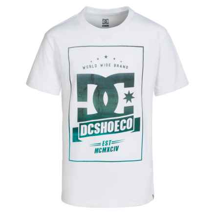 DC Shoes Graphic T-Shirt - Short Sleeve (For Big Boys) in White - Closeouts