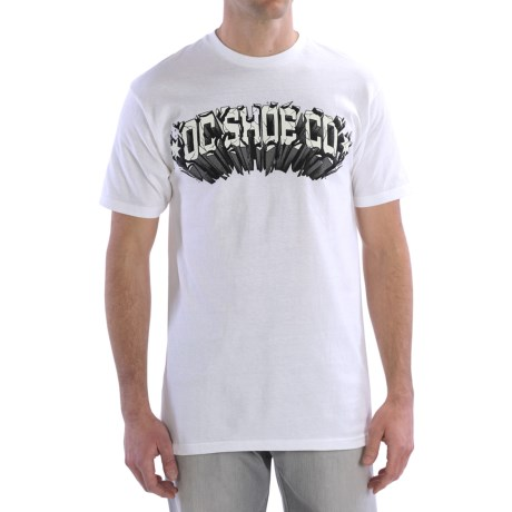 DC Shoes Graphic T-Shirt - Short Sleeve (For Men) in Launch Ramp White