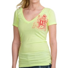 DC Shoes Graphic T-Shirt - Short Sleeve (For Women) in Bird Crest White - Closeouts