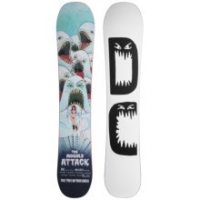 DC Shoes Hellcity Snowboard (For Men) in 152 White W/Black Logo - Closeouts