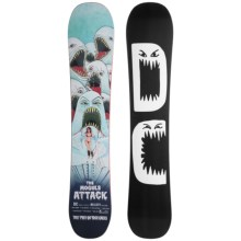 DC Shoes Hellcity Snowboard (For Men) in 156 Black W/White Logo - Closeouts