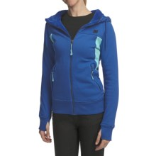 DC Shoes Hotaka Fleece Hoodie Sweatshirt - Full Zip (For Women) in Olympian Blue - Closeouts