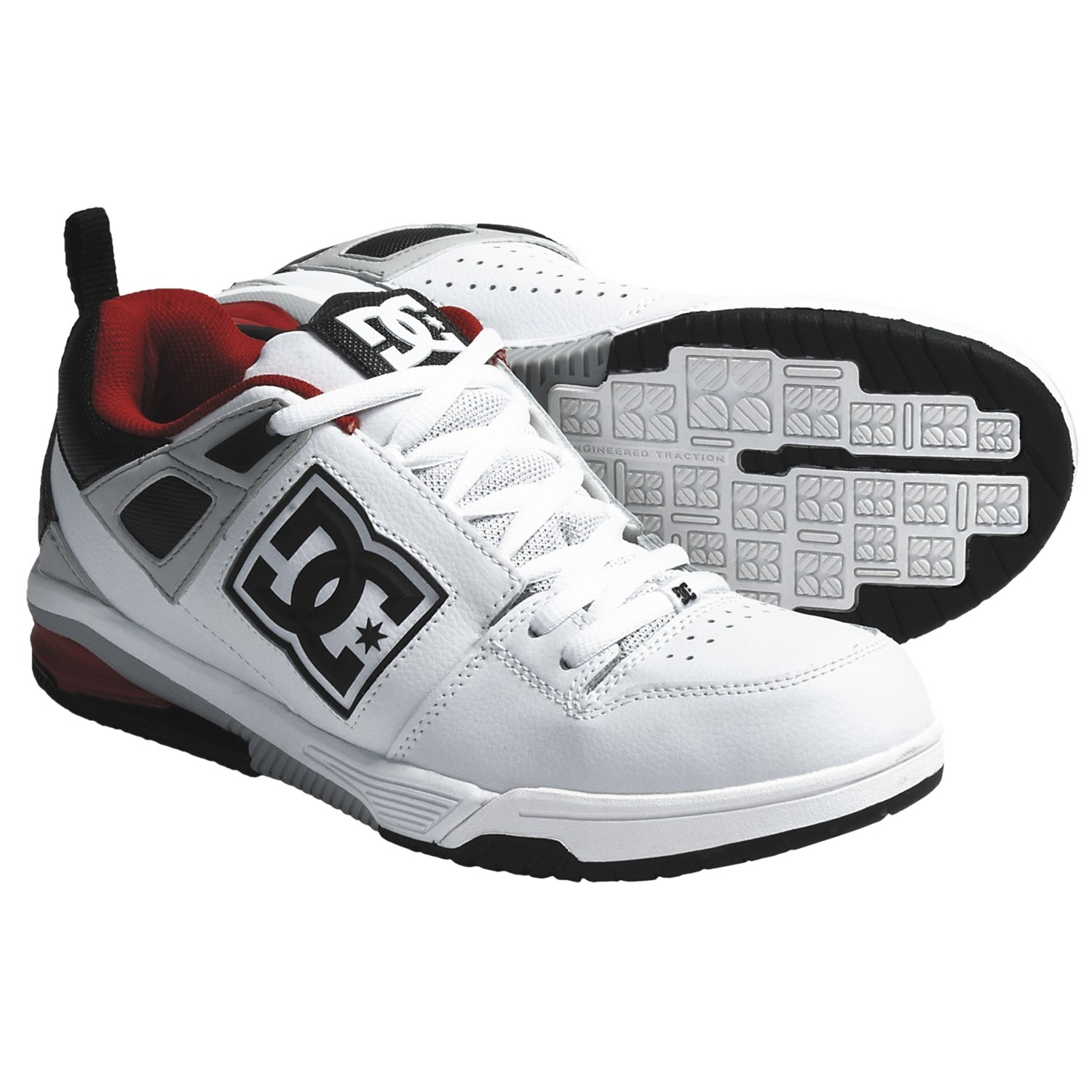 DC Shoes Impact RS Skate Shoes (For Men) in White/Black/Armor
