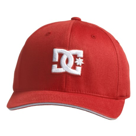 DC Shoes Jamal 6 Hat - Flexfit® (For Men) in True Red