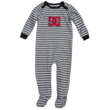 DC Shoes Jersey Baby Bodysuit - Long Sleeve (For Infants) in Black/White - Closeouts