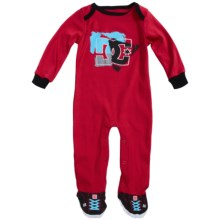 DC Shoes Jersey Baby Bodysuit - Long Sleeve (For Infants) in Red - Closeouts