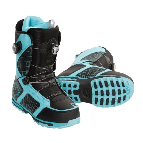 DC Shoes Judge BOA Snowboard Boots (For Men) in Black/Glacier Blue