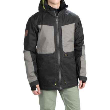 DC Shoes Kingdom Snowboard Jacket - Waterproof, Insulated (For Men) in Anthracite - Closeouts