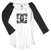DC Shoes Logo Rama Baseball Shirt - 3/4 Sleeve (For Women) in Bright White - Closeouts