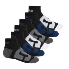 DC Shoes Logo Socks - 6-Pack, Quarter Crew (For Little and Big Boys) in Black/White/Grey/Navy - Closeouts