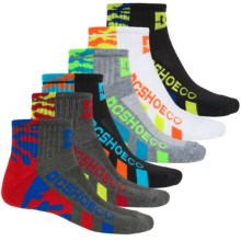 DC Shoes Logo Socks - 6-Pack, Quarter Crew (For Little and Big Boys) in Multi Stripe - Closeouts