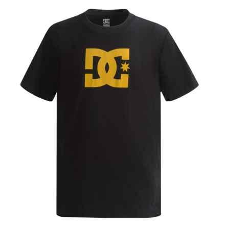 DC Shoes Logo T-Shirt - Short Sleeve (For Big Boys) in Black/Lemon - Closeouts