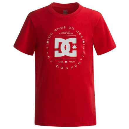 DC Shoes Logo T-Shirt - Short Sleeve (For Big Boys) in Formula One - Closeouts