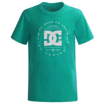 DC Shoes Logo T-Shirt - Short Sleeve (For Big Boys) in Tropical Green - Closeouts