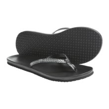 DC Shoes Lucy Thong Skate Sandals (For Women) in Black - Closeouts