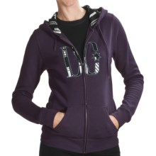 DC Shoes Madie Zip Fleece Hoodie Sweatshirt (For Women) in Night Shade - Closeouts