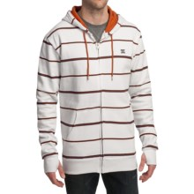 DC Shoes Mark Stripe Hoodie Sweatshirt - Fleece (For Men) in White - Closeouts