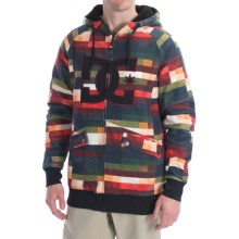 DC Shoes Maxmillions Hoodie Sweatshirt - Zip (For Men) in Red Multi Plaid - Closeouts