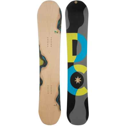DC Shoes Mega Snowboard in Woodgrain W/Black/Grey/Neon Yellow /Blue - Closeouts