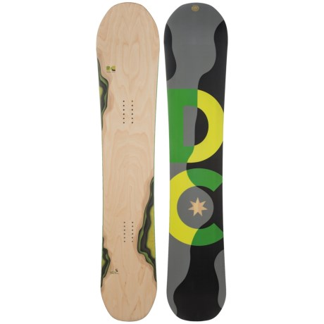 DC Shoes Mega Snowboard in Woodgrain W/Black/Grey/Neon Yellow/Green