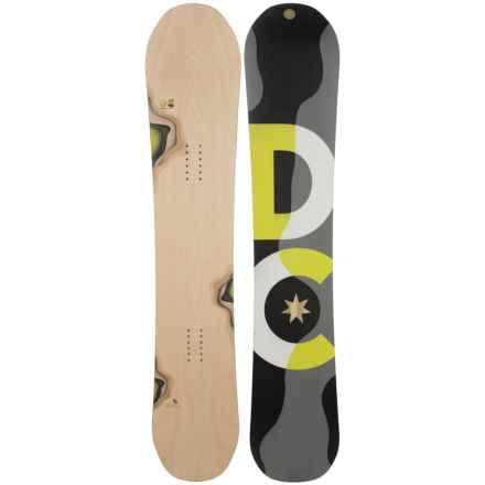 DC Shoes Mega Snowboard in Woodgrain W/Black/Grey/Neon Yellow/White - Closeouts
