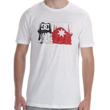 DC Shoes Melt Flag T-Shirt - Short Sleeve (For Men) in White - Closeouts