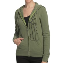 DC Shoes Minturn Zip Hoodie Sweatshirt (For Women) in Bluish Olive - Closeouts