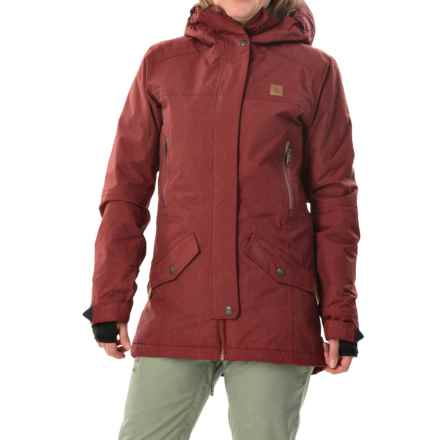 DC Shoes Nature Snowboard Jacket - Waterproof, Insulated (For Women) in Syrah - Closeouts