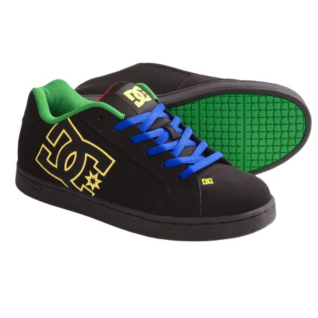 DC Shoes Net Skate Shoes (For Men) in Black/Royal/Emerald