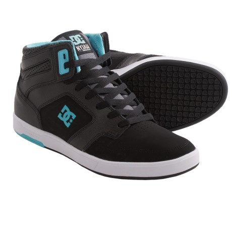 DC Shoes Nyjah High Top Sneakers (For Men) in Black/Celtic