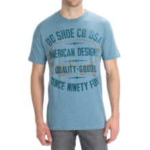 DC Shoes Pignose T-Shirt - Short Sleeve (For Men) in Chambray - Closeouts