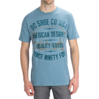 DC Shoes Pignose T-Shirt - Short Sleeve (For Men) in Chambray